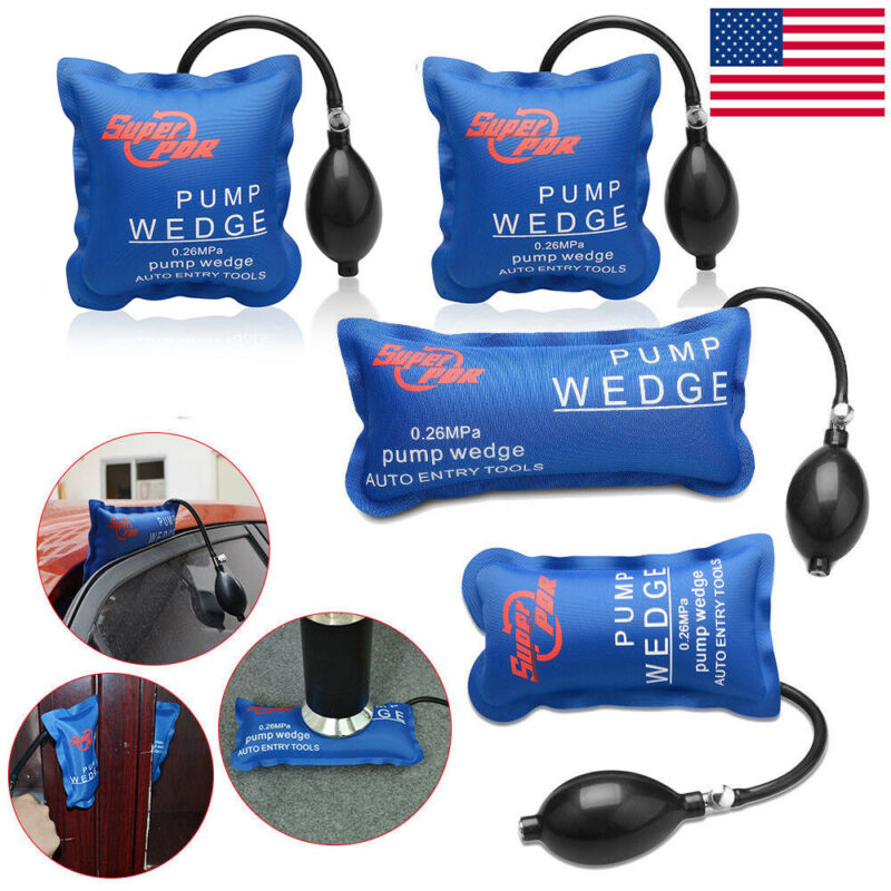 4× US Air Pump Wedge PDR Pump Inflatable Automotive Hand Tools 4 shape
