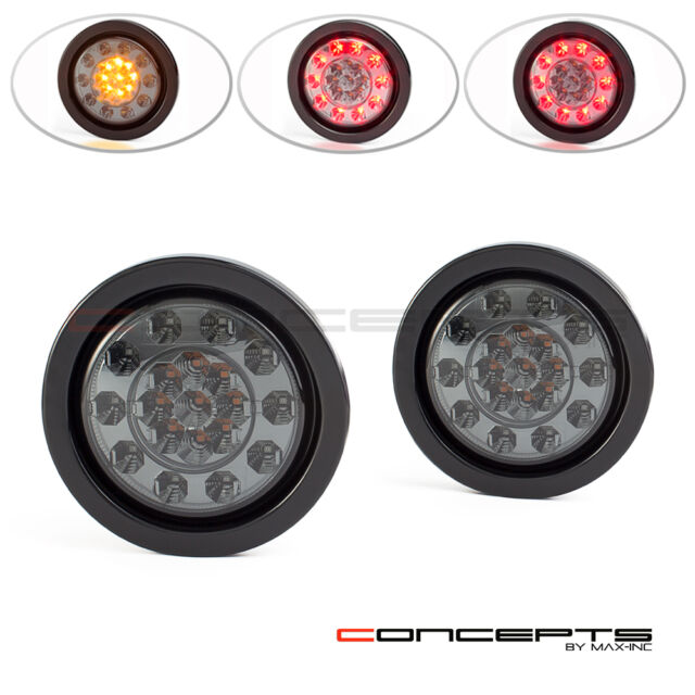 2x LED Tail Stop Brake Lamp Indicator Truck Trailer Waterproof
