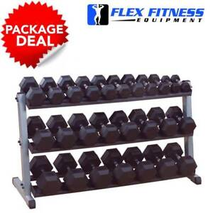 ARMORTECH COMMERCIAL HEX DUMBBELL COMPLETE PACKAGE