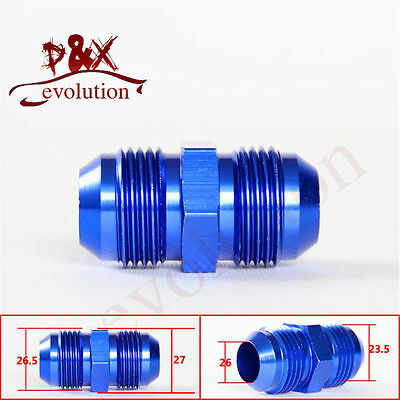Aluminum -12 AN 12AN to AN12 Male Flare Union Oil Fuel Straight Adapter Fitting