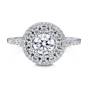Brand New Engagement Double Halo Ring 1.38 CTW