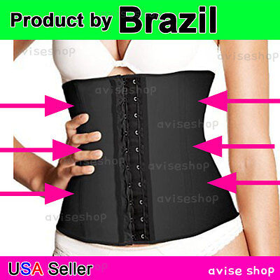 Waist Trainer cincher Belt Workout Latex Rubber brazilian Body Shapewear Girdle
