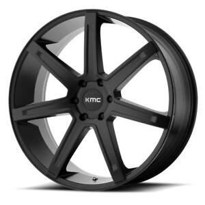 "KMC Revert 20"" Wheels Chevrolet Silverado GMC Sierra 1500 Wheel Set 6x139.7 20x9 +18mm Satin Black"