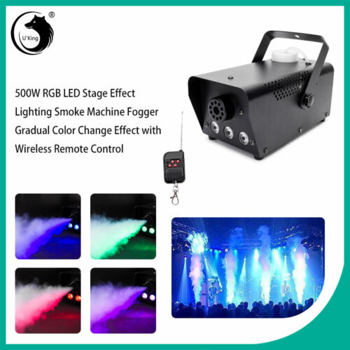 500W Portable Smoke Fog Machine RGB LED DJ Party Stage Light