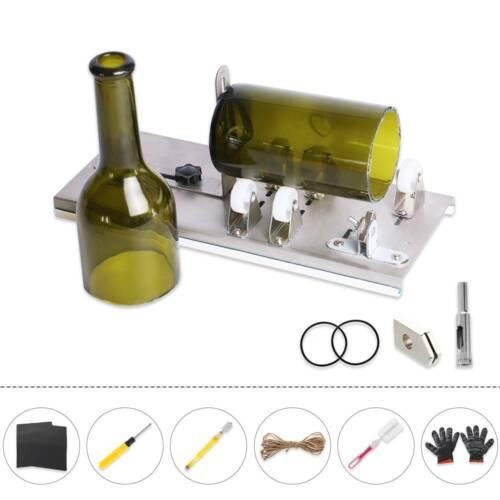 Ajustable DIY Glass Bottle Cutter Machine Recycles Wine Bottles Metal Tool Kit