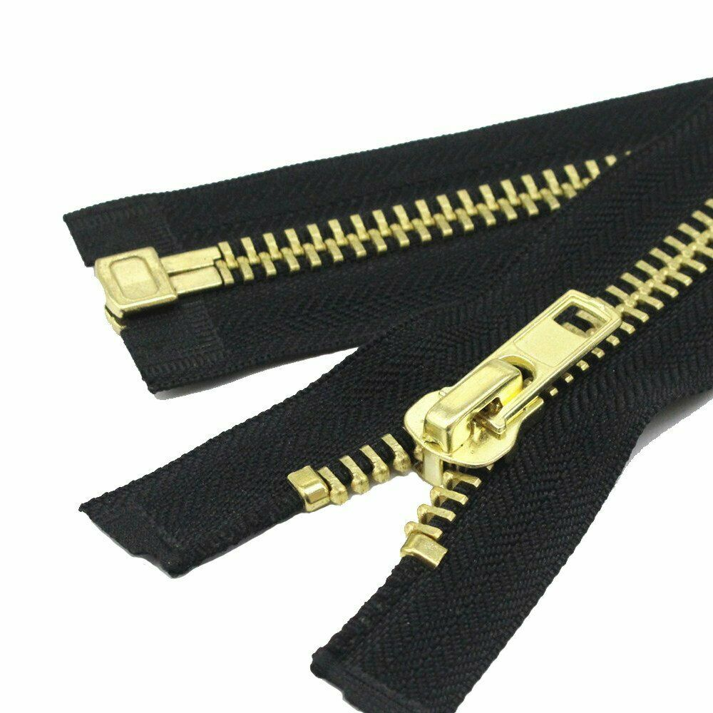 Medium Weight Jacket Zipper #5 Brass Separating  BLACK/NAVY-