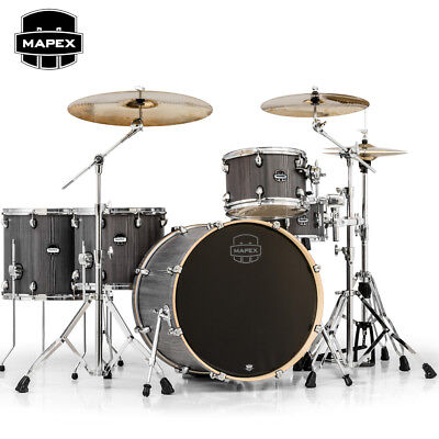 Mapex MARS SERIES 5 Piece Crossover Drum Set Shell Pack Smoke Wood MA528SFCGW Drum Set Shell Pack