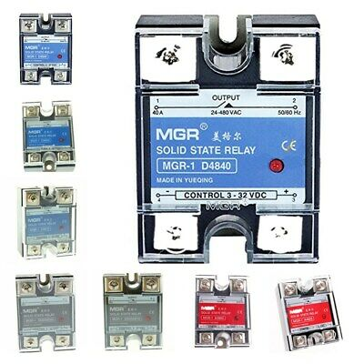 Mgr-1 Ssr 10a25a40a60a Da Dd Aa Dc-ac Ac-ac Single Phase Solid State Relay