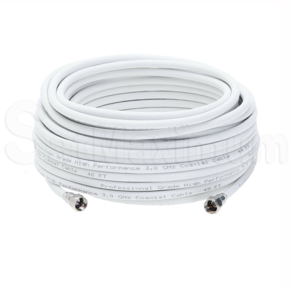 Coaxial Antenna Cable Extension Coax HDTV Wire Double Shielded Patch Cord - LOT