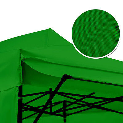 PERFECT OASIS 3x6M Green Pop Up Gazebo and 3x1.1M Eave Folding Marquee Tent