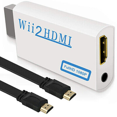Gebraucht, DHL Wii zu HDMI Wii2 HDMI Full HD 1080P HDTV Konverter Adapter mit Kabel gebraucht kaufen  Gummersbach