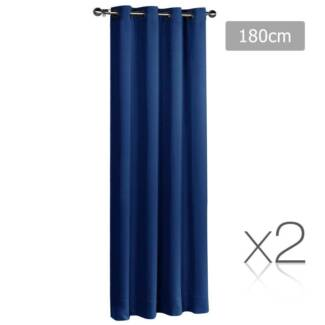 2 x 3 Pass Eyelet Blockout Curtain Bedroom Home Office 250GSM F