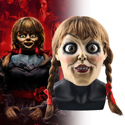 2019 Movie Annabelle 3 Comes Home Cosplay Masks Creepy Latex Doll Wigs Halloween - Halloween 3 Movie Masks