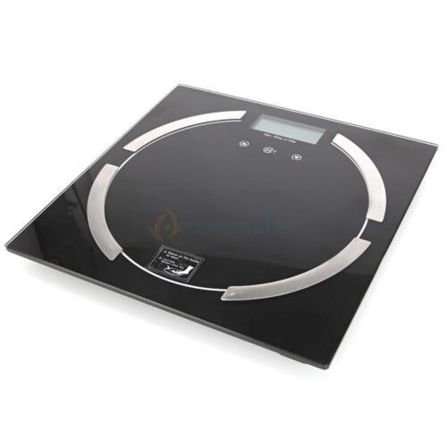396lb 180KG Digital Body Fat Hydration Scale Bathroom Weight Scale black