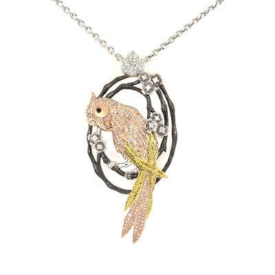 Gelb & Rosa Diamant - Halsketten & Anhänger 1.42ct Natürlich Kostüm Pink - Kostüm Diamant Halskette