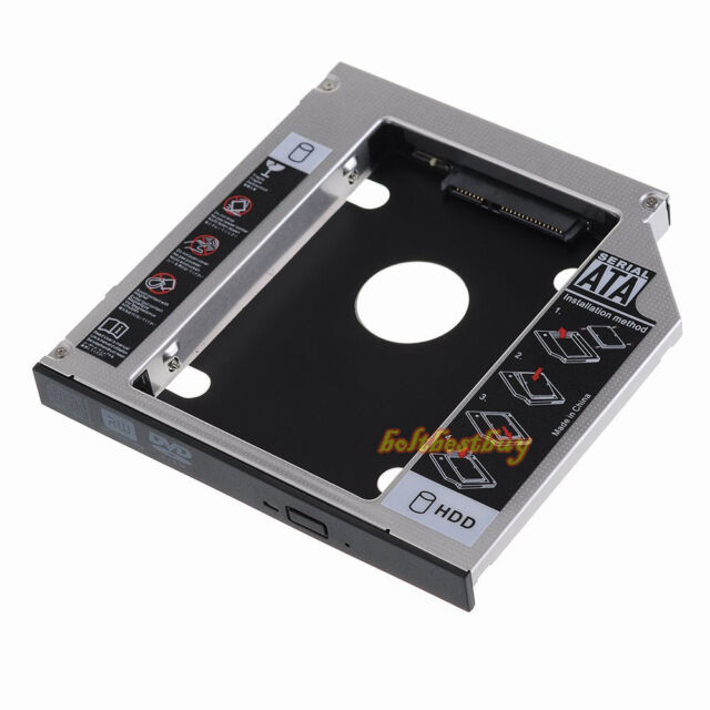 SATA 2nd HDD HD Hard Driver Caddy for 12.7mm Universal CD / DVD-ROM Optical Bay