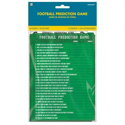 FOOTBALL PREDICTION GAME DAY PARTY 16 Scorecard Score Card Plays Poster Supplies](Football Birthday Games)
