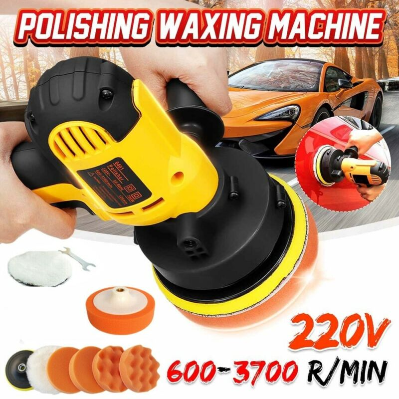 "6"" Car Polisher Kit Sander Buffer Waxing Machine & 5"" Polish"