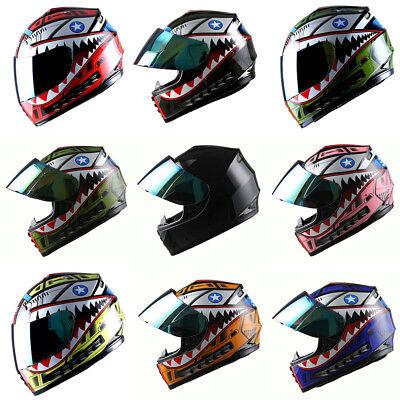 DOT Motorcycle Youth Full Face Helmet Kids Bike Shark Marine Black Blue Red Pink Childrens Full Face Helmets