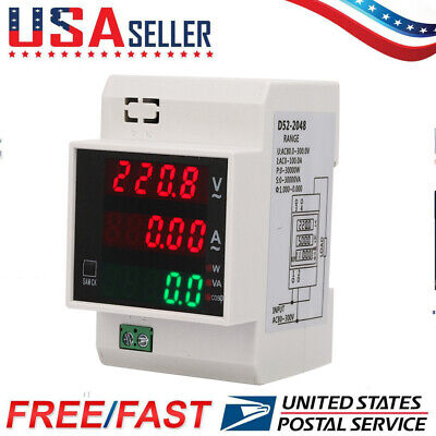 Digital Energy Meter Din Rail Led Active Power Factor Multi-functional Power Met