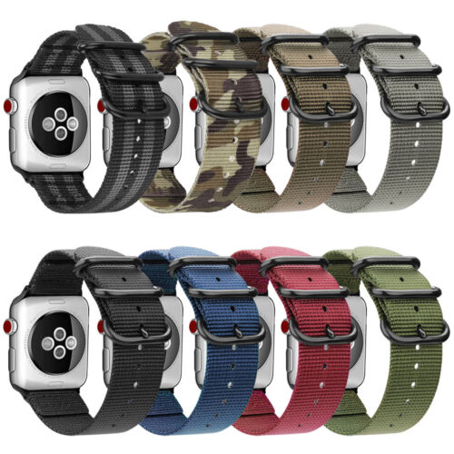 For iWatch Apple Watch Series 5 44mm Watch Band Woven Nylon