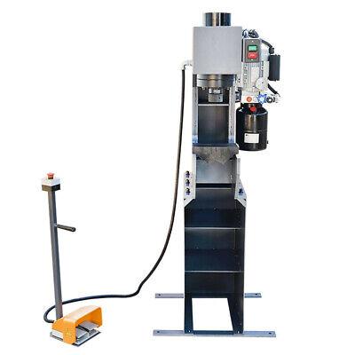 Stroke 110 Volt Motor 3hp 3360 Rpm C-frame 25 Ton Hydraulic Press 7-78 Inch