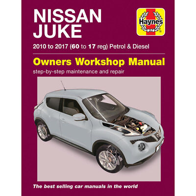 Nissan Juke 1.2 1.6 Petrol 1.5 Turbo Diesel 2010-17 Haynes Workshop Manual