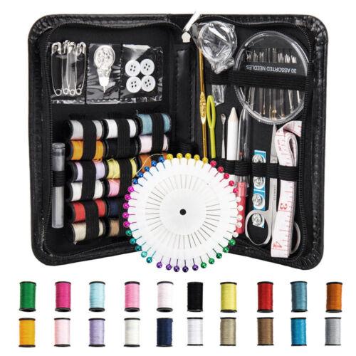 Portable134Pc Travel Home Sewing Kit Case Needle Thread Tape Scissor Button Set