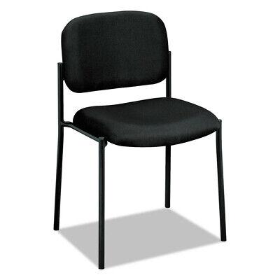 Basyx Vl606va10 Armless Steel-framed Guest Chair Padded Black Fabric New