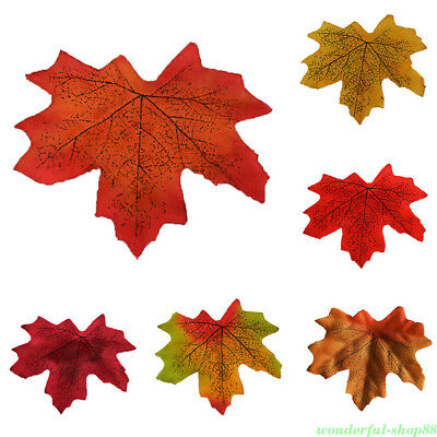 Autumn Maple Leaf Fall Fake Silk Leaves DIY Wedding Party Christmas Decoration