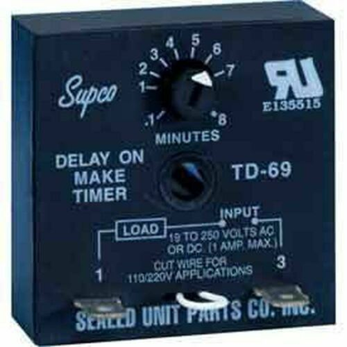 Supco TD69 - TD60 Series Delay On Make Timer, OEM, Brand New