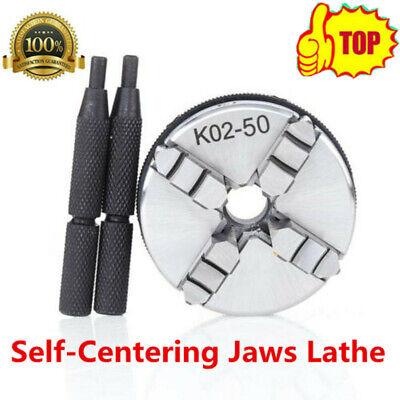 Sanou 4jaw Self-centering Jaws Lathe Chuck 50mm Metal Lathe Tool Accessory Rods