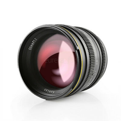 Kamlan 50mm F1.1 APS-C Manual Focus Lens for M4/3 Mirrorless Cameras