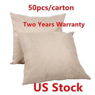 Us 50pcscarton Linen Sublimation Blank Pillow Case Cushion Cover