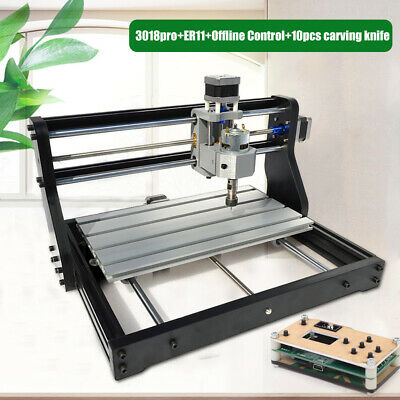 3 Axis 3018pro Cnc Router Wood Carving Laser Engraver Pcb Milloffline Control