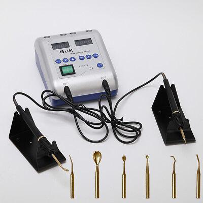 SJK-Best! Dental lab digital electric wax heater Die carving pen 6 tips pot