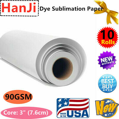 Us 10rolls 64in X 328ft 90gsm Hanji Dye Sublimation Paper For Heat Transfer