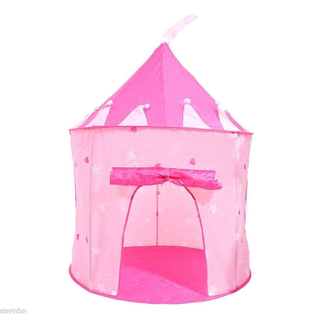 CHILDRENS PINK CASTLE POP UP PLAY TENT