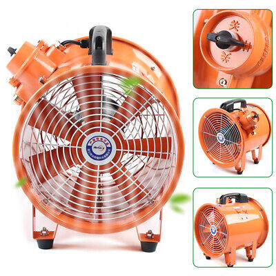 1950 Cfm 10 Spray Booth Fan - Tube Axial Fan - 1 Phase Motor - Cylinder Pipe