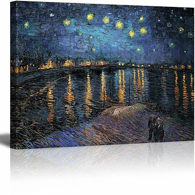 Wall26 Canvas Print   Starry Night Over The Rhone By Vincent Van Gogh   24 X32