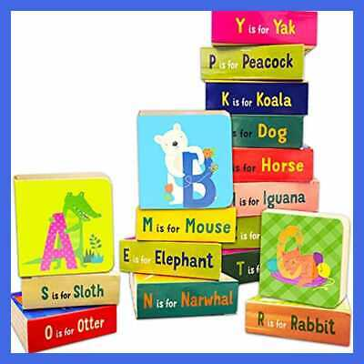 """Set Toddlers Babies Pack Of 24""""My First"""" Mini Board Books W Stick ANIMAL ABC"""