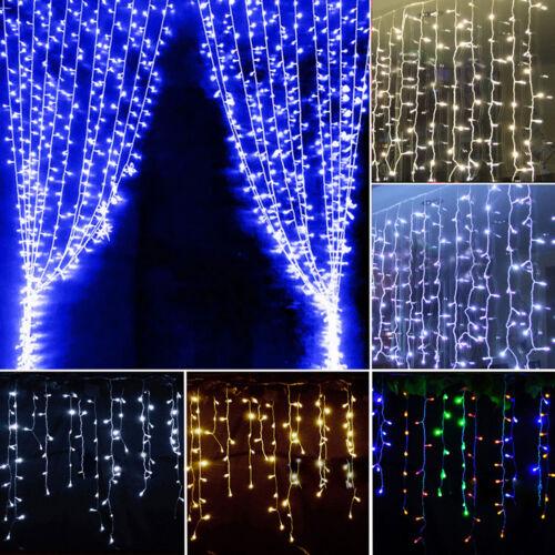 LED Lichtervorhang Weihnachtsbeleuchtung Innen Außen Party Deko Lichterkette DE