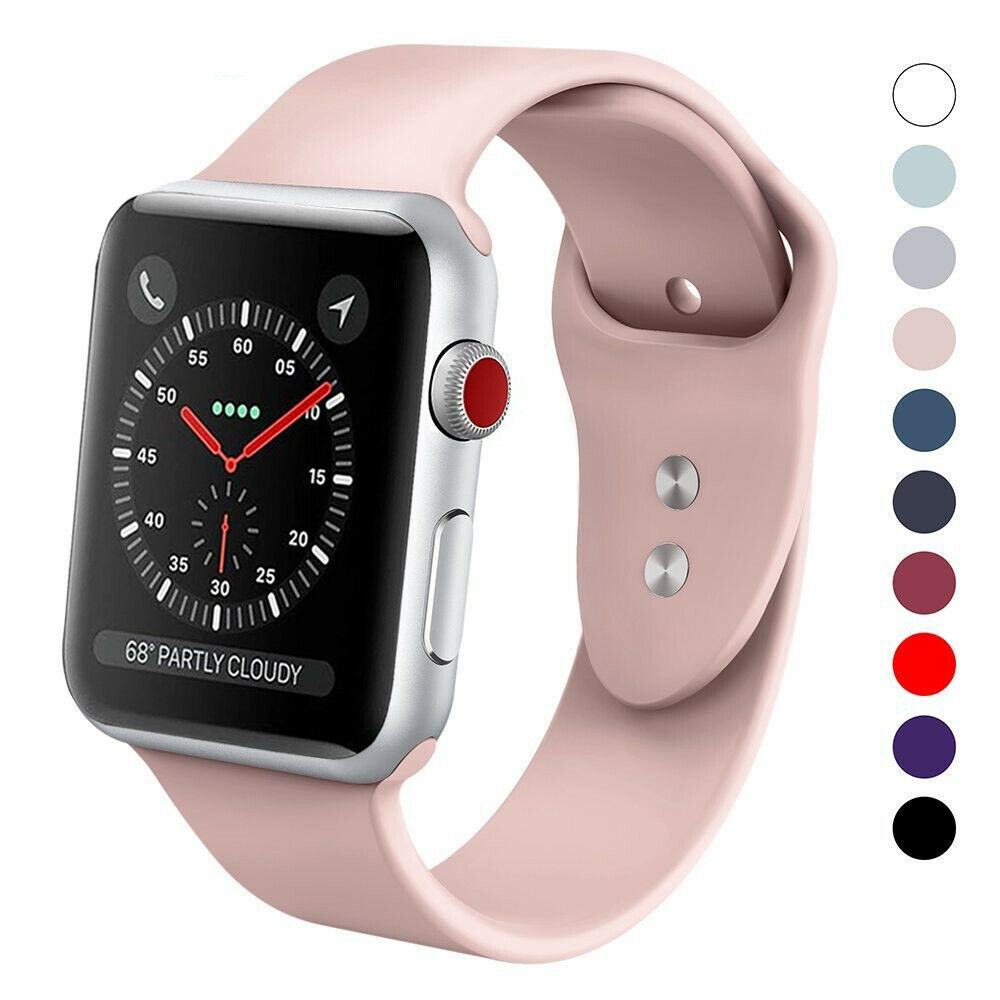 silicone band for iphone watch 38mm 42mm