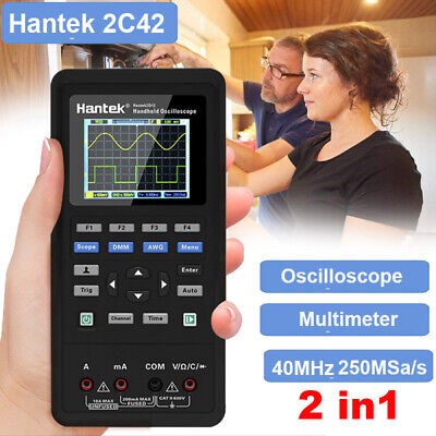 Hantek 2c42 2ch 250msas 2in1 Oscilloscopemultimeter 40mhz Bandwidth Waveform