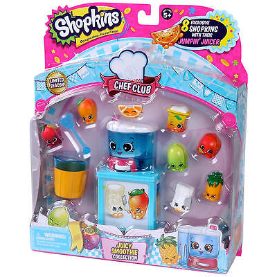 SHOPKINS Season 6 - JUICY SMOOTHIE Collection Playset - 8 Figure Pack 2016