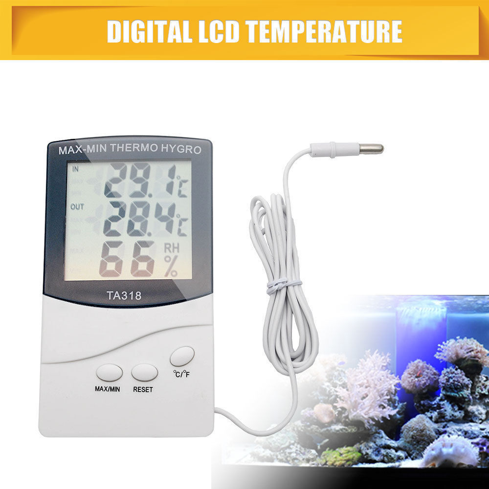 NEW Digital LCD Humidity Hygrometer Temperature Thermometer Indoor Outdoor US