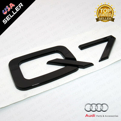 Audi Q7 Nameplate Gloss Black ABS Emblem Trunk Logo Badge Decoration Modified