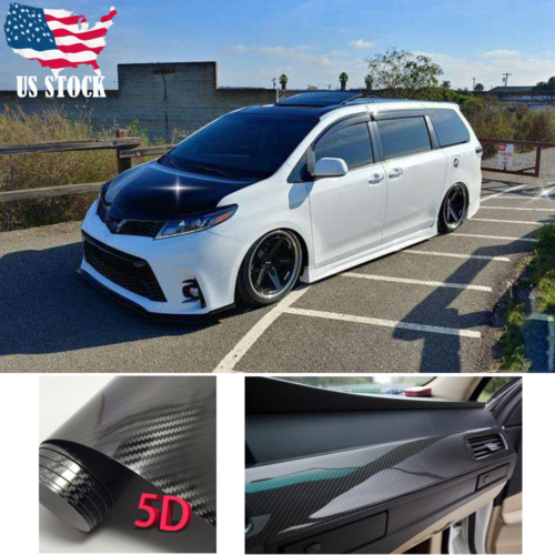 Car Body Sticker Dual Racing Stripe Decal Vinyl Accessories For Toyota Sienna