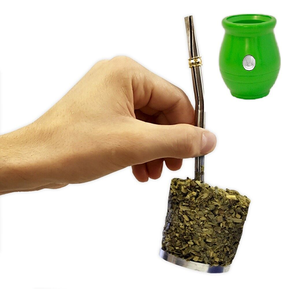 Spoon included Yerba Mate with filter and Yerbatake out Mate Urbano Beige