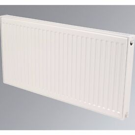 White radiator with wall brackets 600x1400 Kudox Type 21